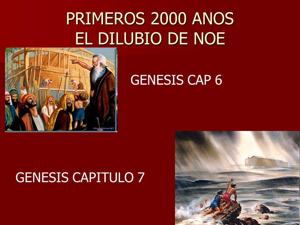 PRIMEROS 2000 ANOS EL DILUBIO DE NOE