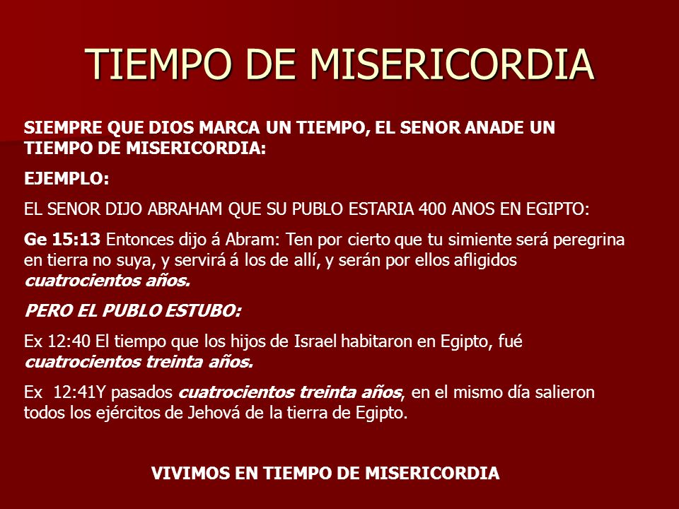 TIEMPO DE MISERICORDIA