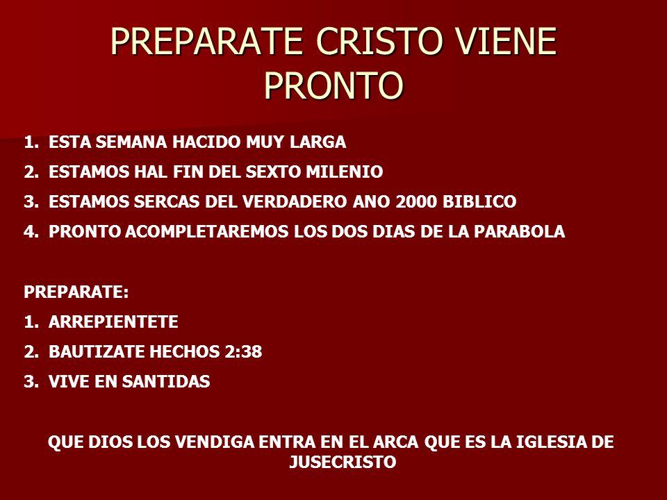 PREPARATE CRISTO VIENE PRONTO
