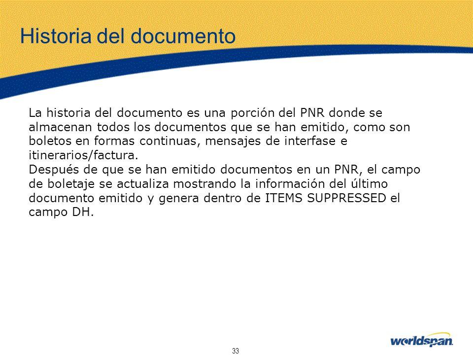 Historia del documento