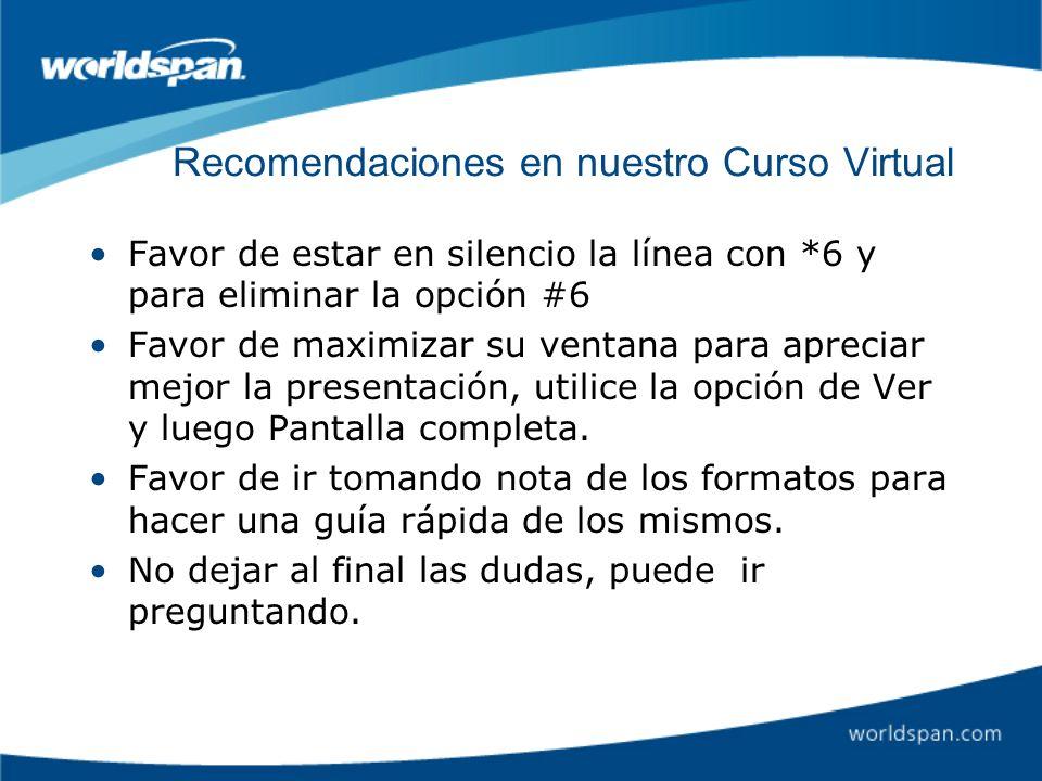 Recomendaciones en nuestro Curso Virtual