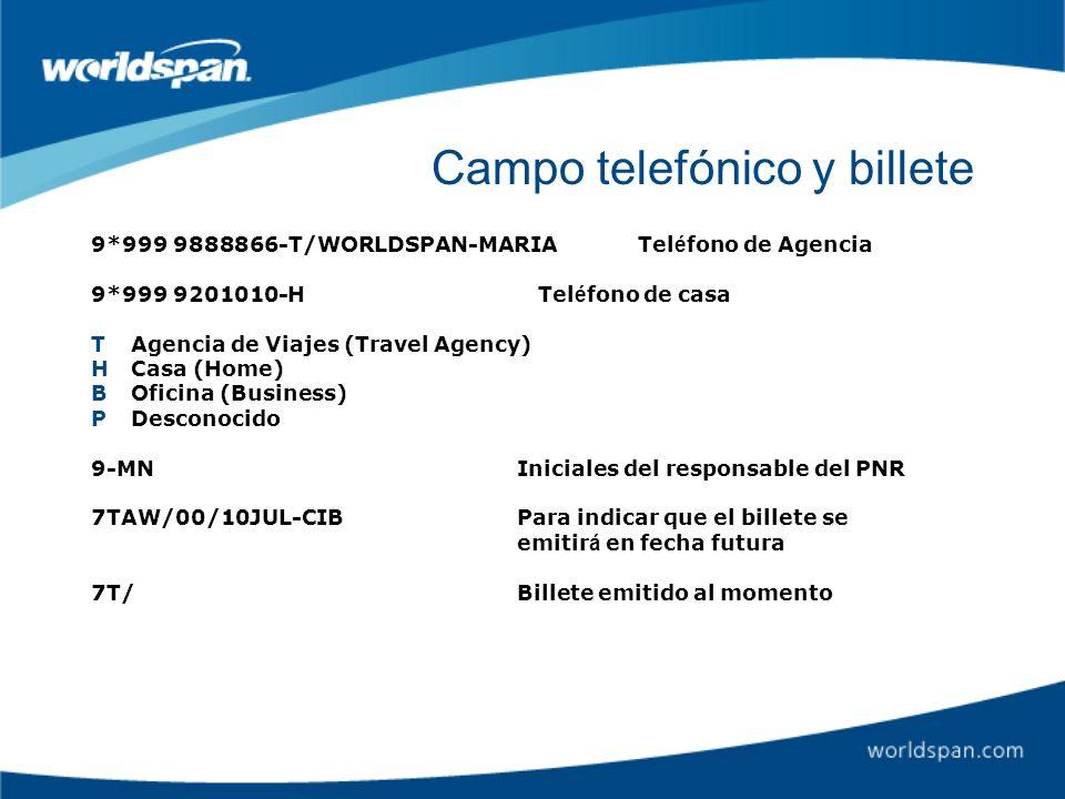 Campo telefónico y billete