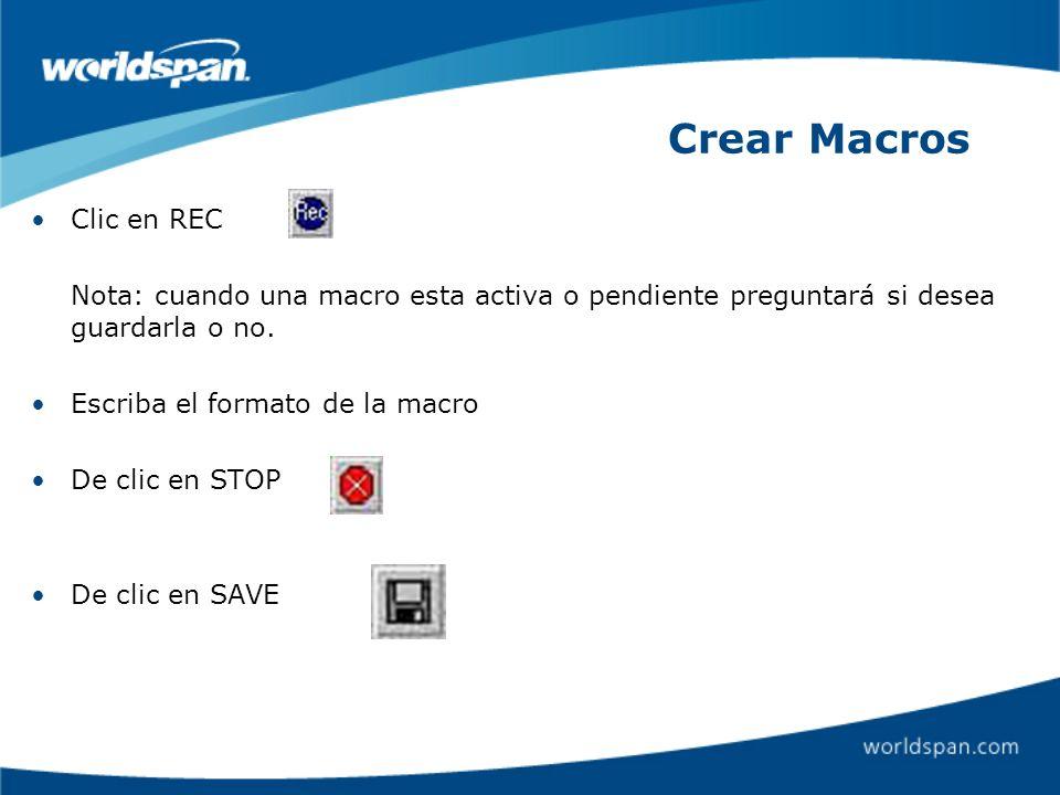 Crear Macros Clic en REC