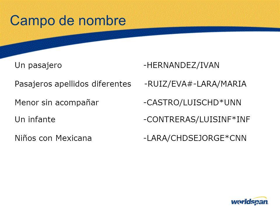 Campo de nombre Un pasajero -HERNANDEZ/IVAN