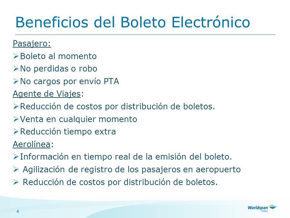 Beneficios del Boleto Electrónico