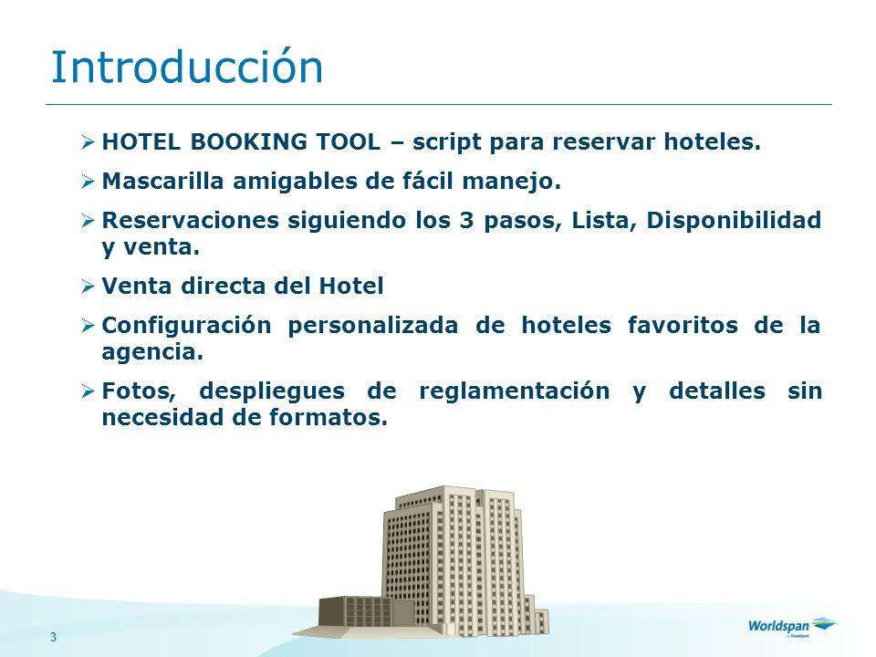 Introducción HOTEL BOOKING TOOL – script para reservar hoteles.