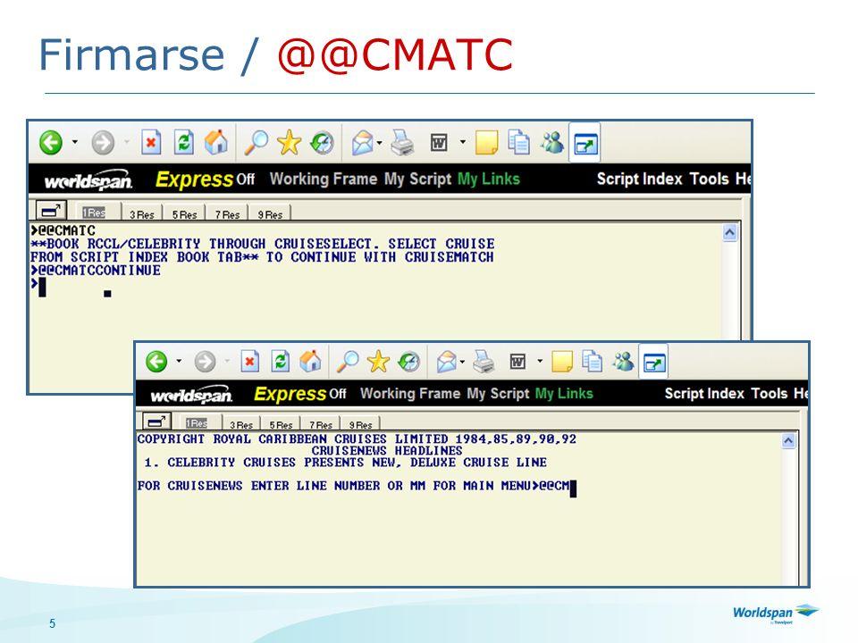 Firmarse / @@CMATC