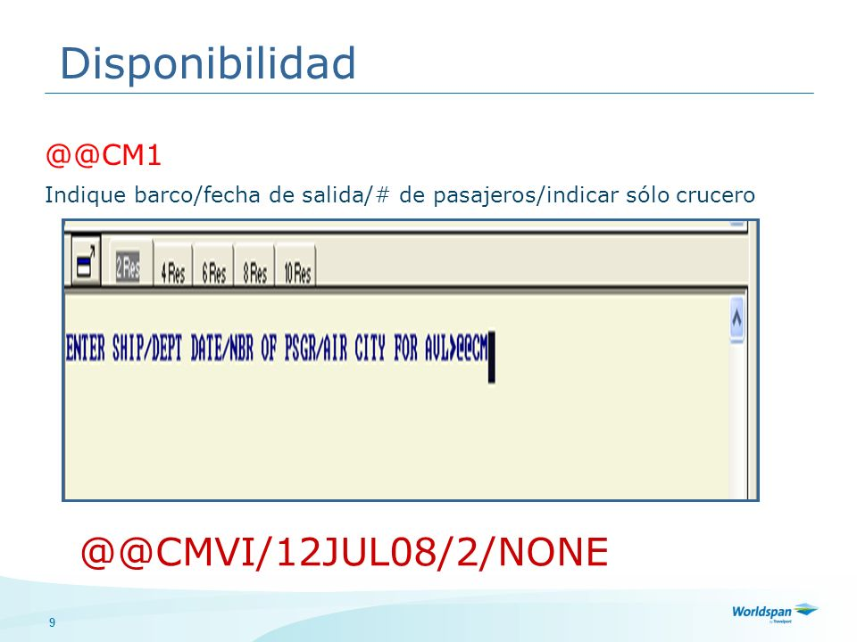 Disponibilidad @@CMVI/12JUL08/2/NONE @@CM1