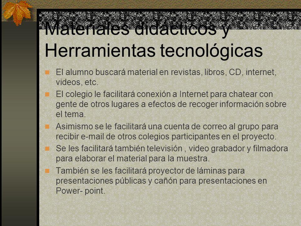 Materiales didácticos y Herramientas tecnológicas