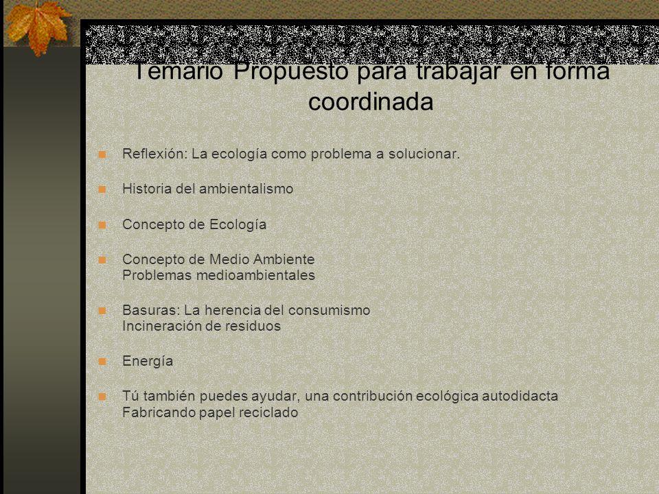 Temario Propuesto para trabajar en forma coordinada
