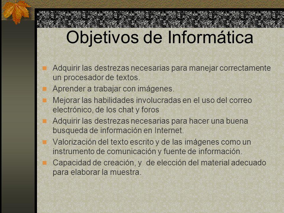 Objetivos de Informática