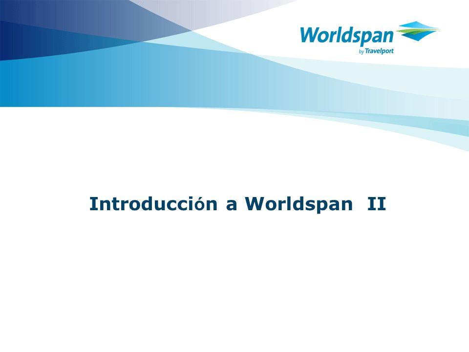 Introducción a Worldspan II