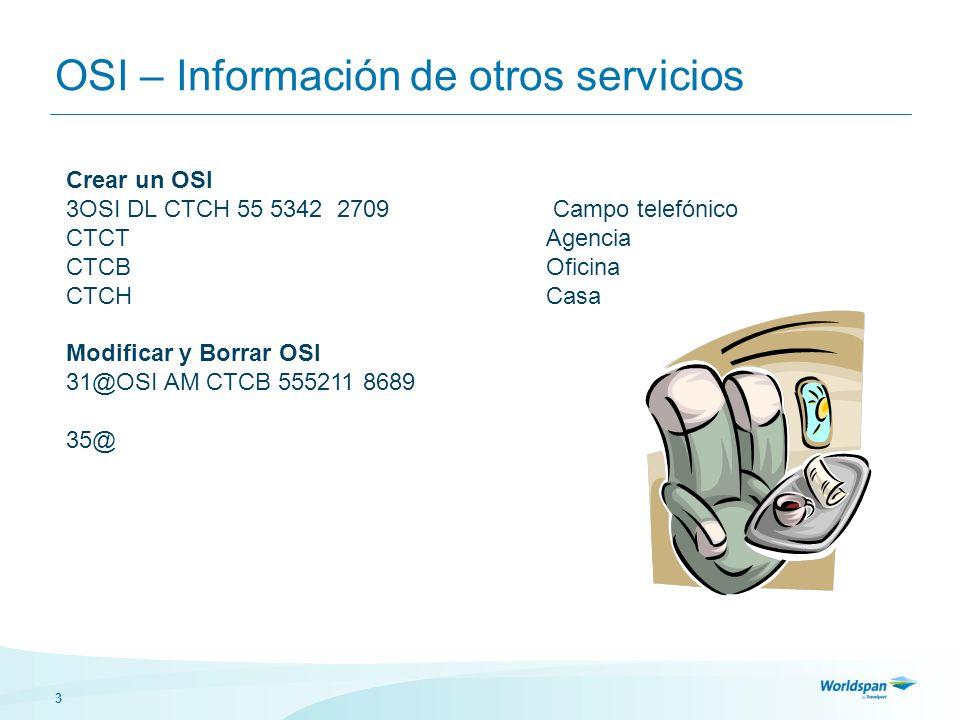 OSI – Información de otros servicios