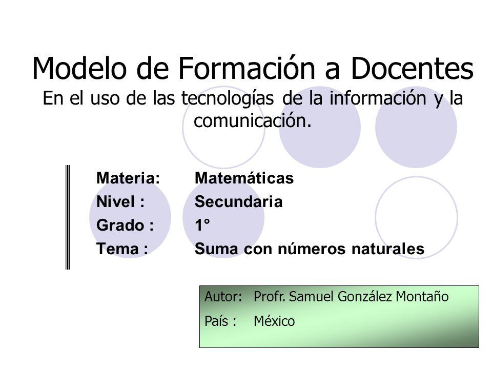 Modelo de Formación a Docentes En el uso de las tecnologías de la información y la comunicación.