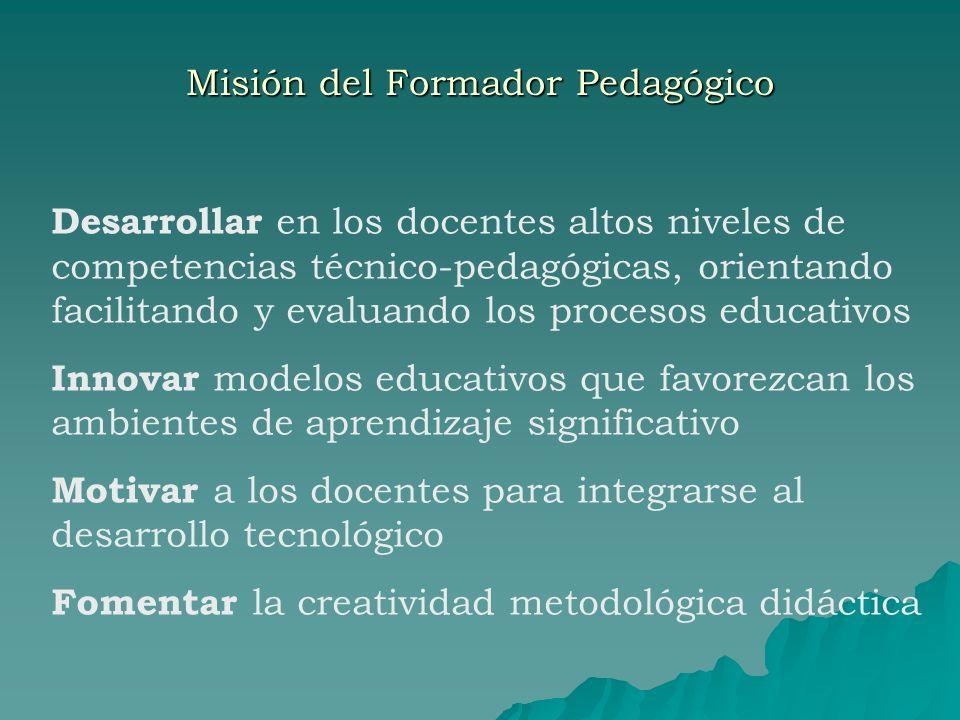 Misión del Formador Pedagógico