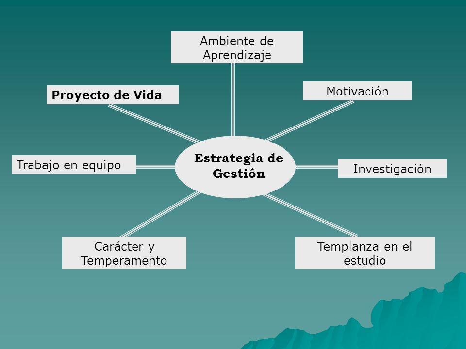 Estrategia de Gestión Ambiente de Aprendizaje Motivación