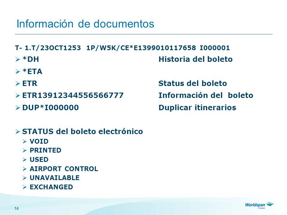 Información de documentos