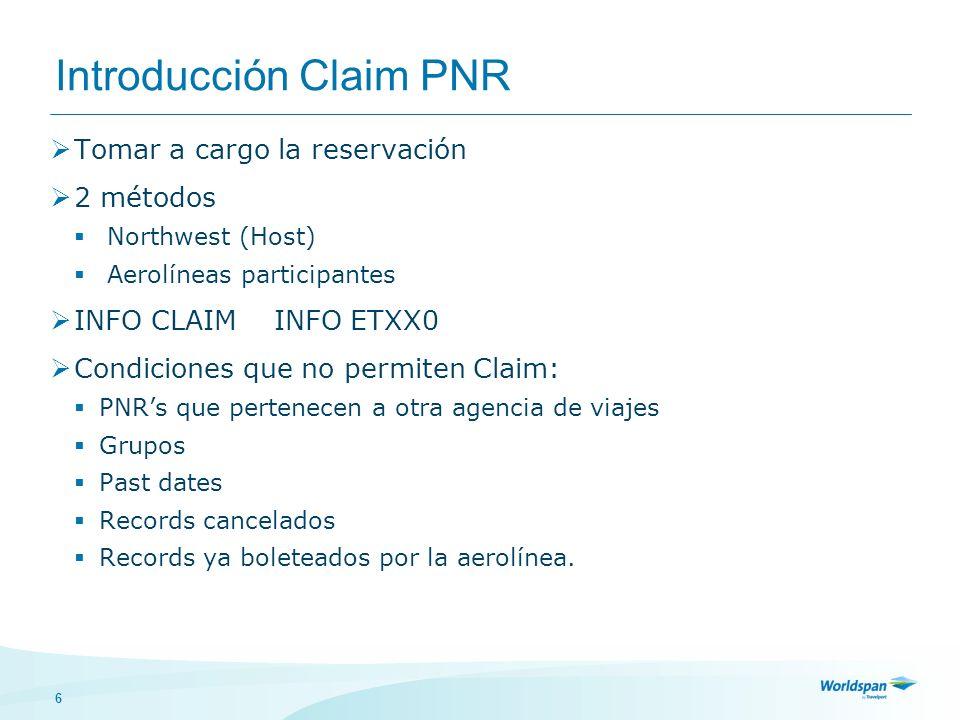 Introducción Claim PNR