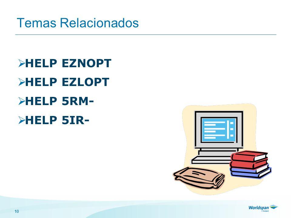 Temas Relacionados HELP EZNOPT HELP EZLOPT HELP 5RM- HELP 5IR-
