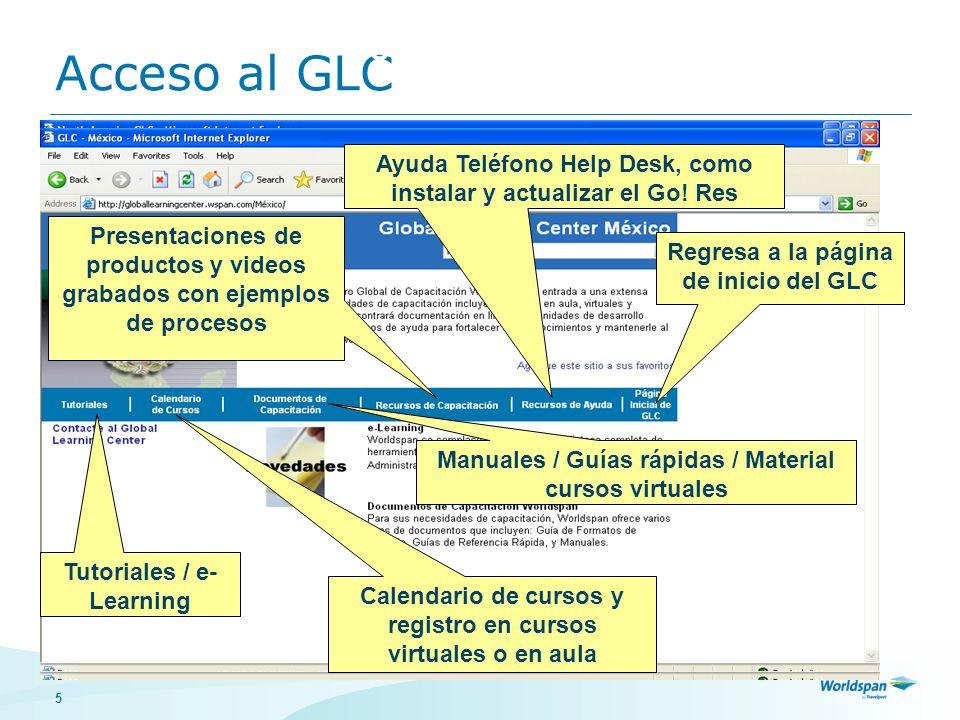 Acceso al GLC Cómo tener acceso a los tutoriales