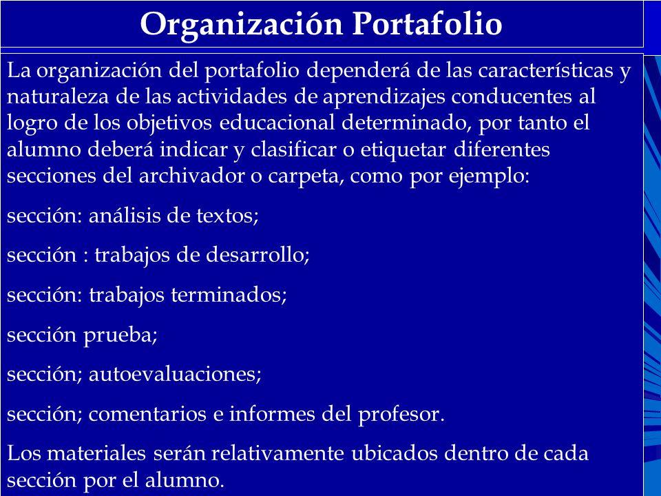 Organización Portafolio