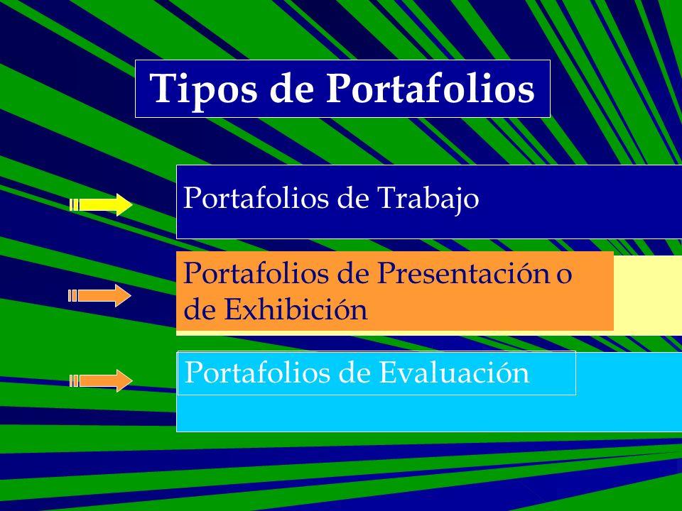 Tipos de Portafolios Portafolios de Trabajo