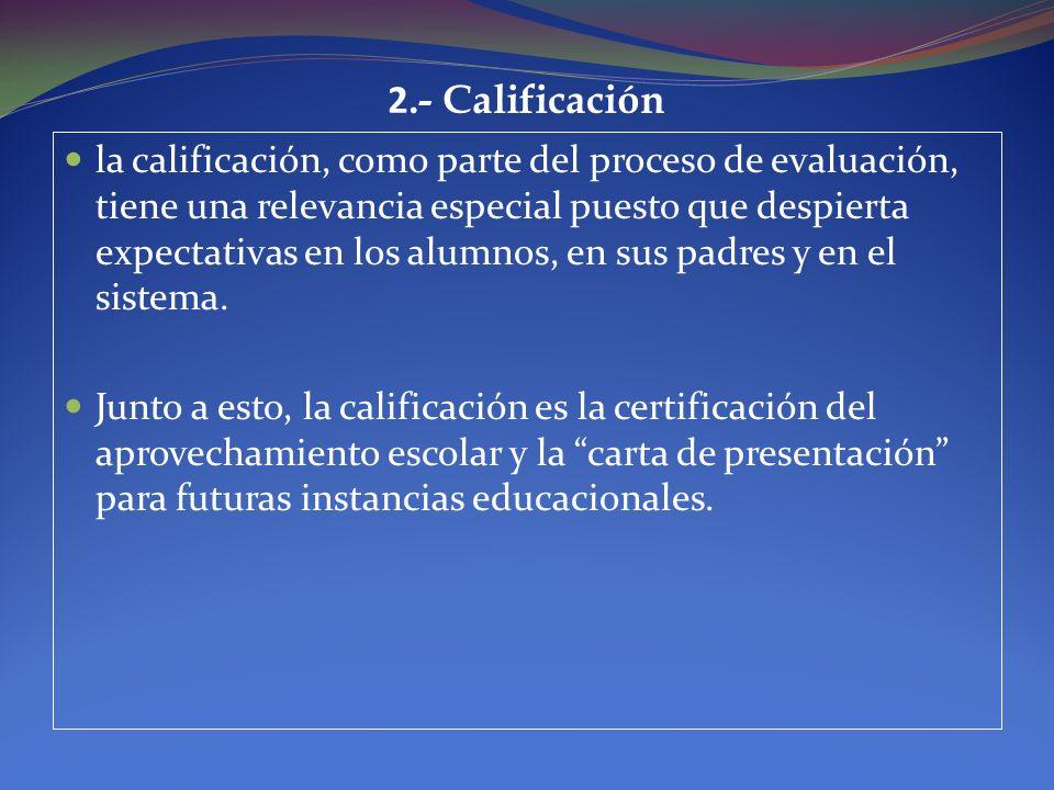 2.- Calificación