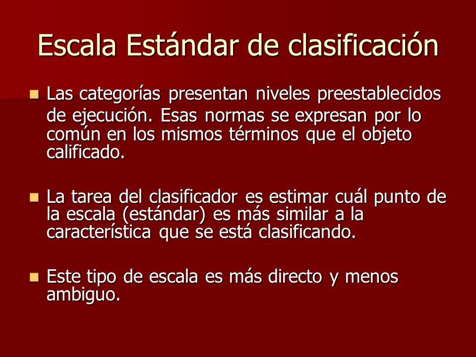 Escala Estándar de clasificación