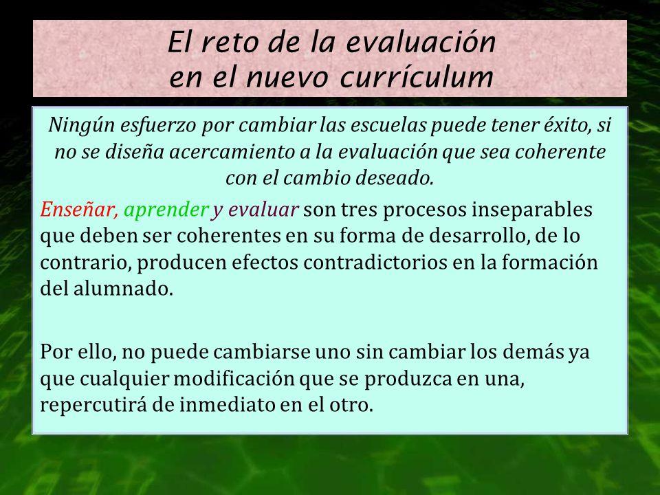 El reto de la evaluación en el nuevo currículum