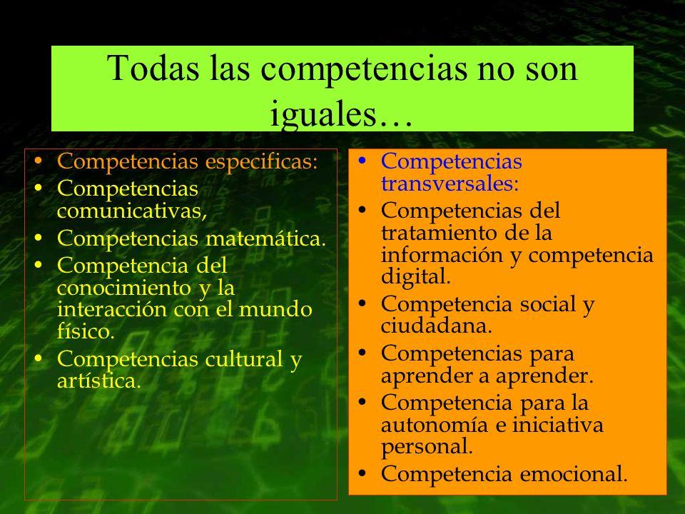 Todas las competencias no son iguales…