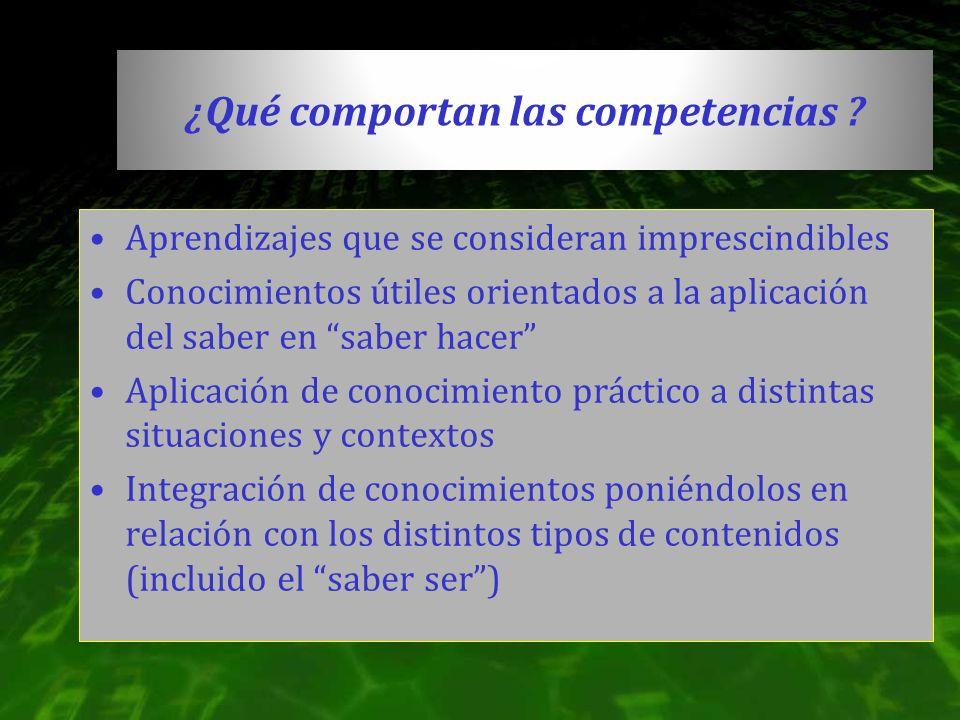 ¿Qué comportan las competencias
