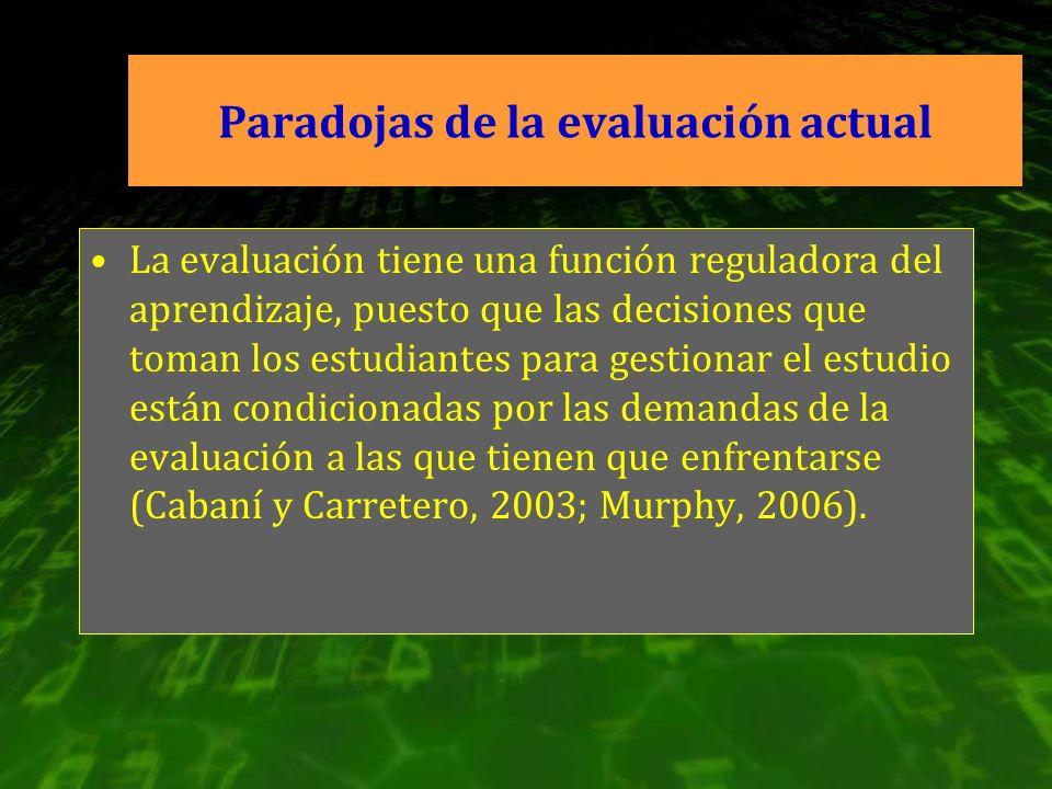 Paradojas de la evaluación actual