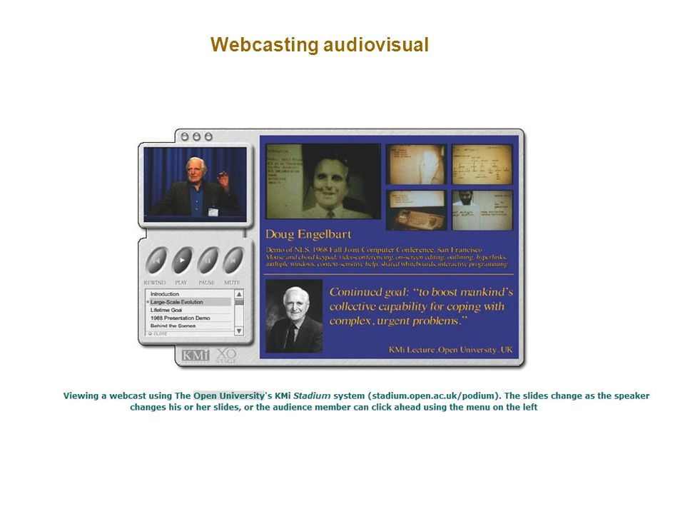 Webcasting audiovisual