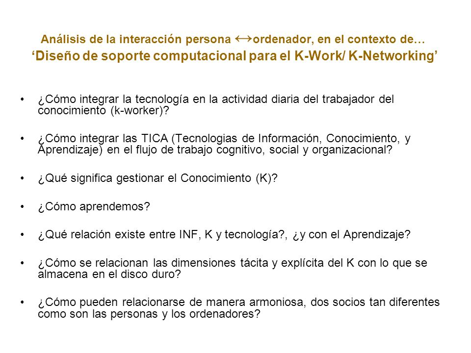 Análisis de la interacción persona ↔ordenador, en el contexto de…