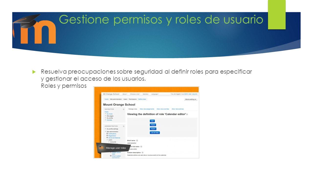 Gestione permisos y roles de usuario