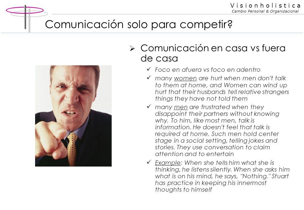 Comunicación solo para competir