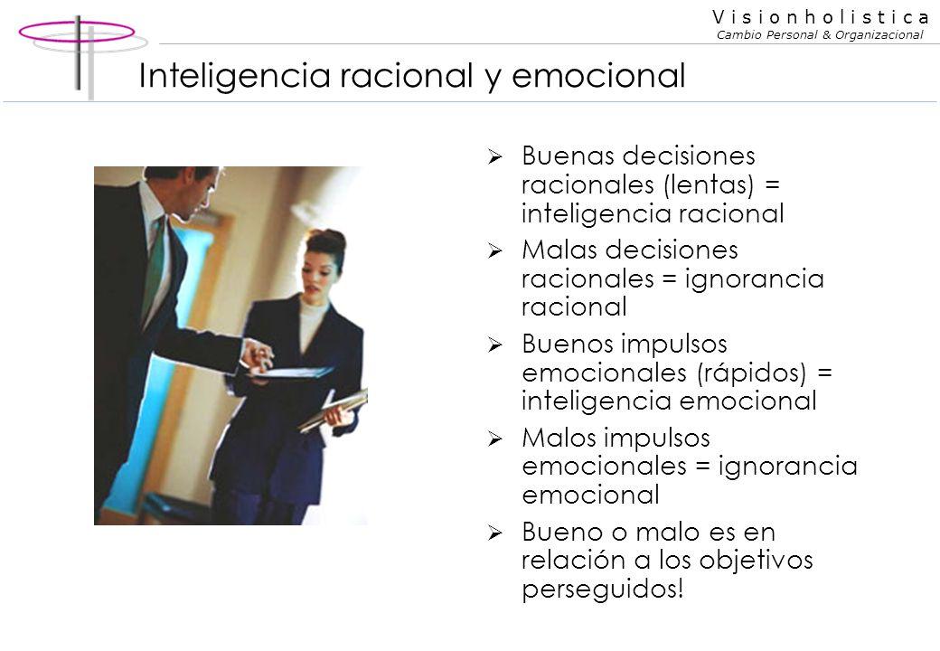 Inteligencia racional y emocional