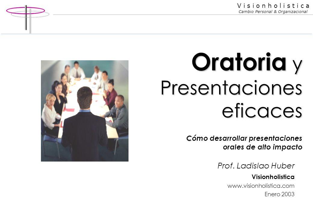 Oratoria y Presentaciones eficaces Cómo desarrollar presentaciones orales de alto impacto