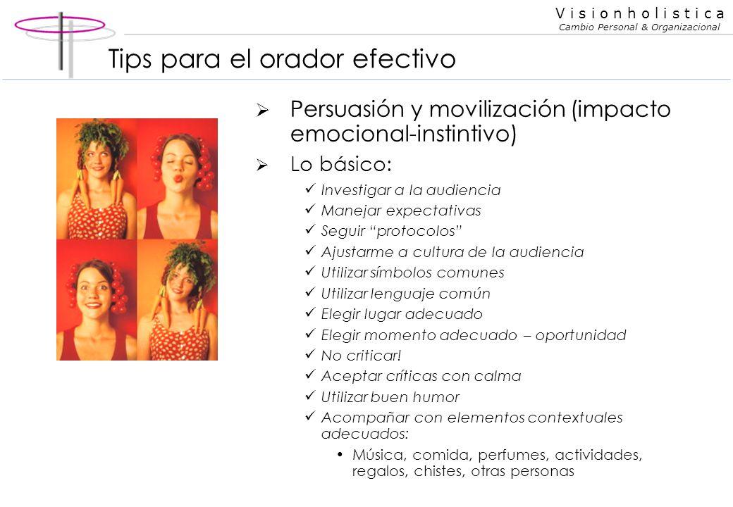Tips para el orador efectivo