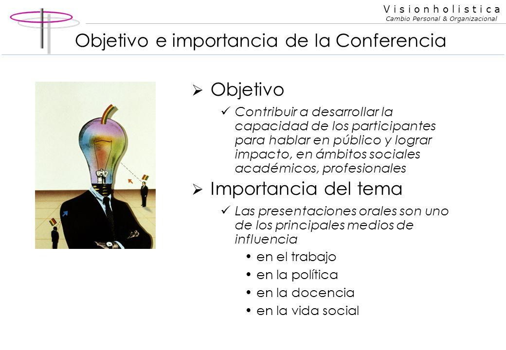 Objetivo e importancia de la Conferencia