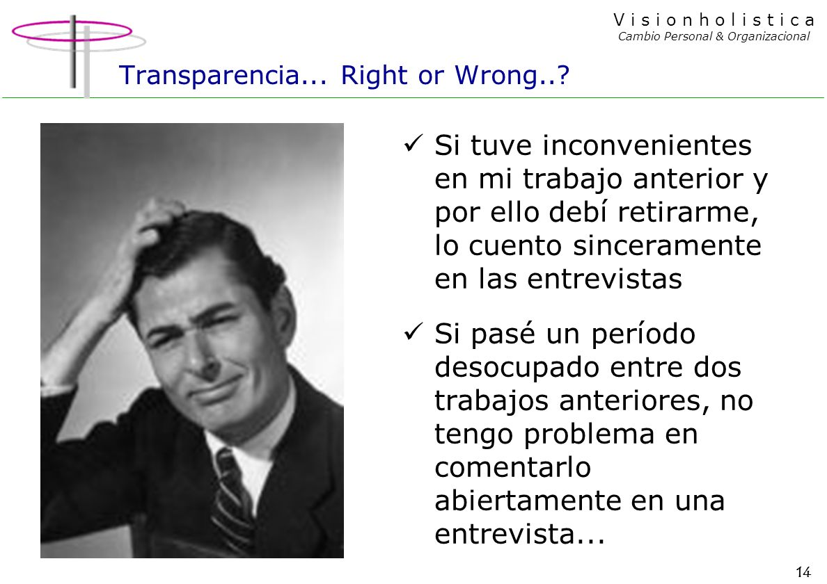 Transparencia... Right or Wrong..