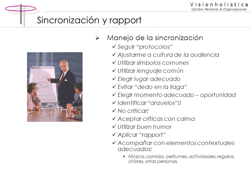 Sincronización y rapport