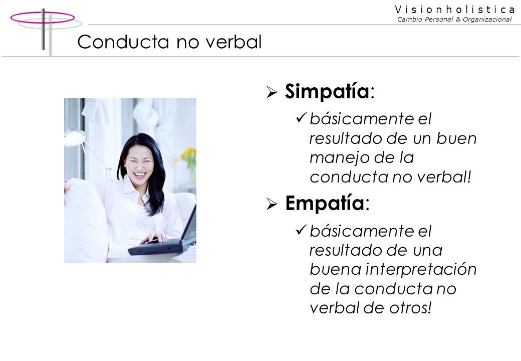 Simpatía: Empatía: Conducta no verbal