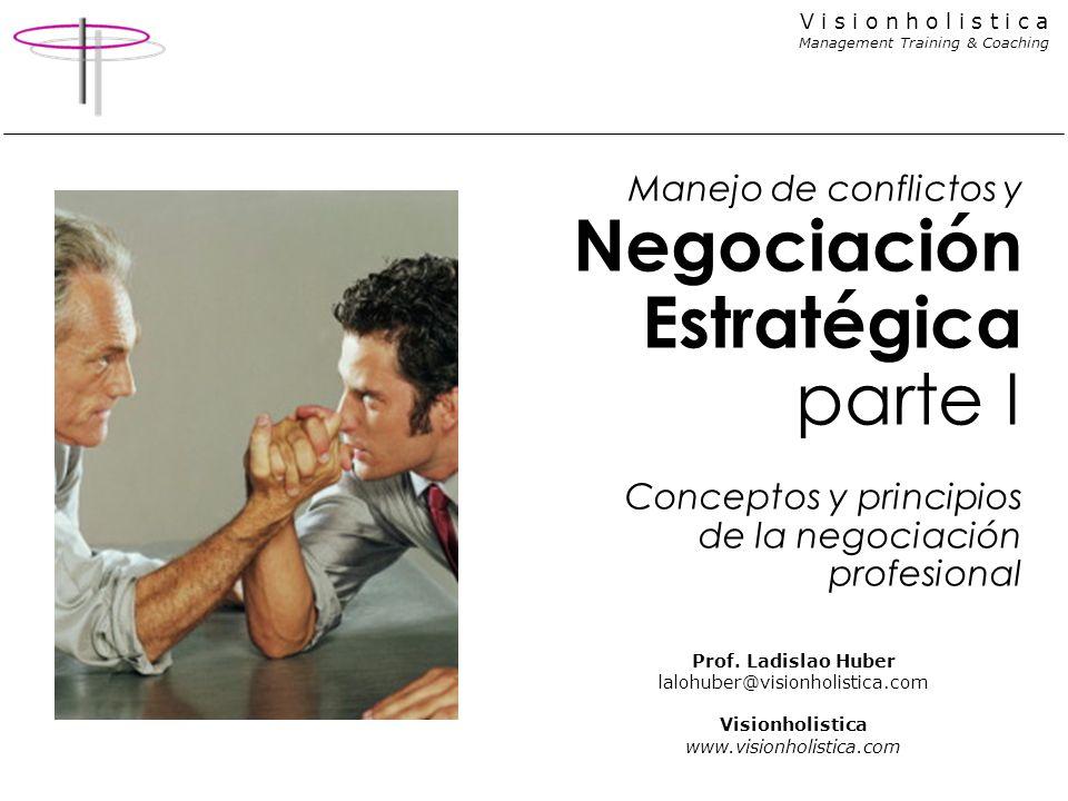 Manejo de conflictos y Negociación Estratégica parte I Conceptos y principios de la negociación profesional