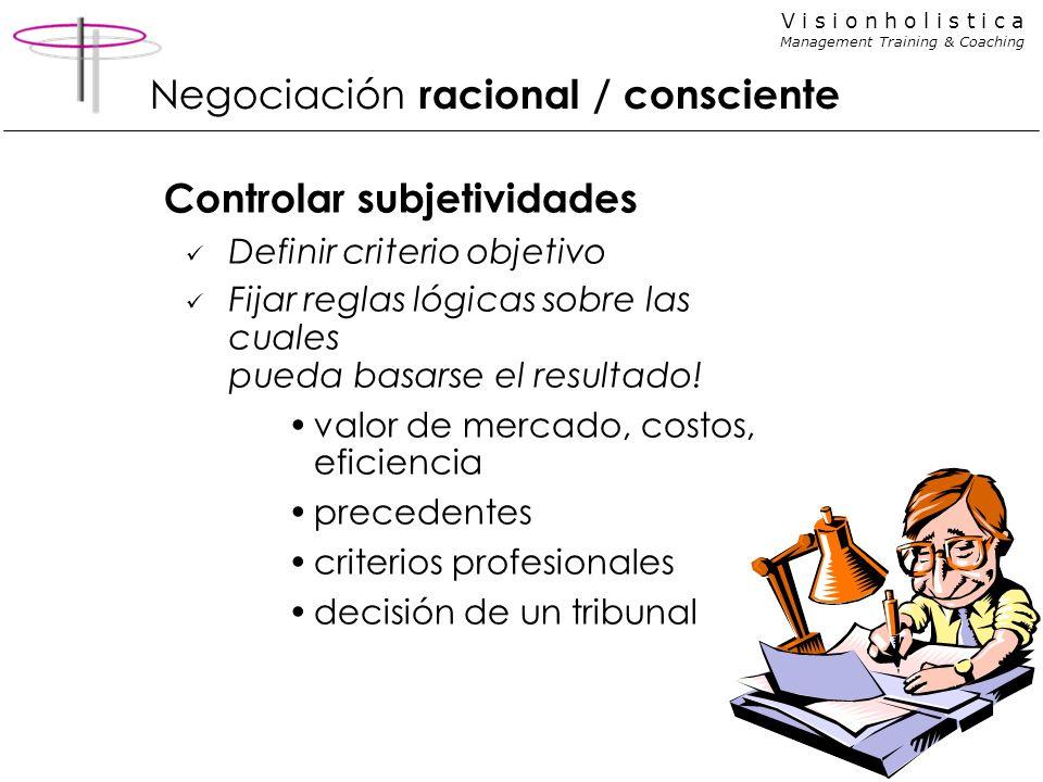 Negociación racional / consciente