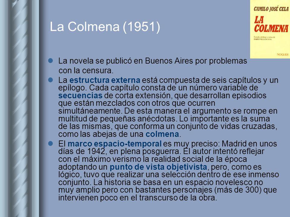 La Colmena (1951) La novela se publicó en Buenos Aires por problemas