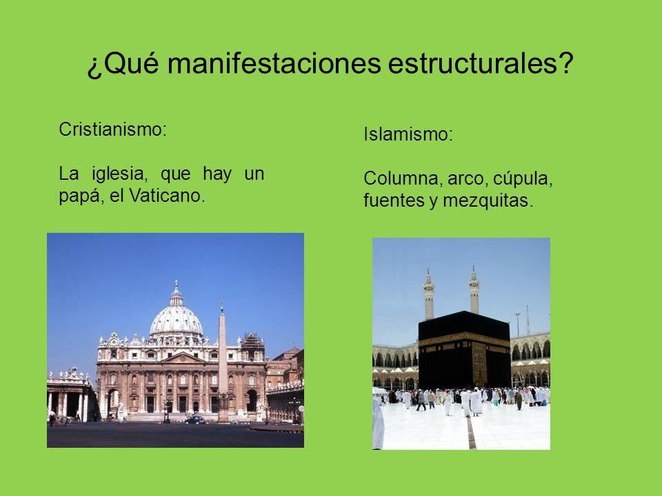 ¿Qué manifestaciones estructurales