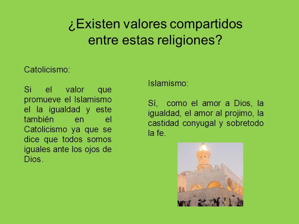 ¿Existen valores compartidos entre estas religiones