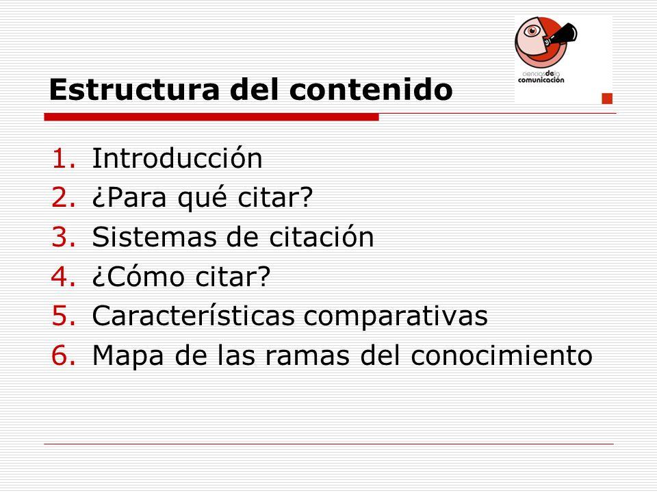 Estructura del contenido