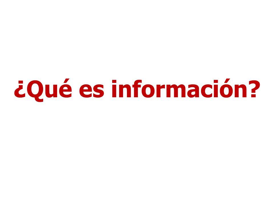 ¿Qué es información